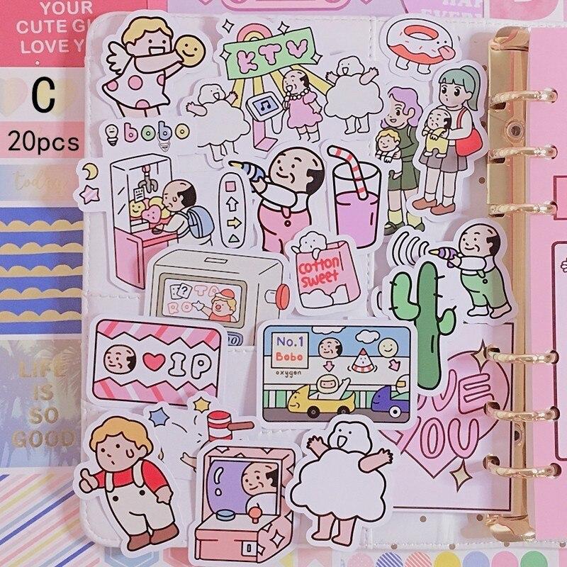 Купить с кэшбэком 2019 Original Girl Cartoon Sticker Hand Account Sticker Mobile Phone Decoration Diy Custom Material Hand Cute Child Sticker