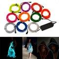 1 m/3 m/5 m el alambre 3 v batería alimentado tubo flexible tira de luz led a prueba de agua coche ropa de fiesta de la boda el alambre + convertidor