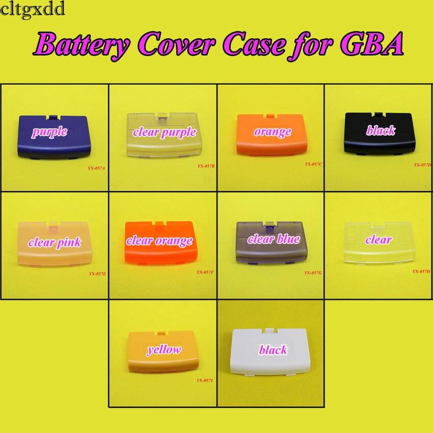 YX-057 100PCS <font><b>Battery</b></font> Cover Case Back Door Part for Nintendo Gameboy Advance <font><b>GBA</b></font>,9 color to choose
