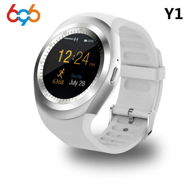 696 Bluetooth Y1 Smart Watch Round Support Nano 2G SIM&TF Card With Whatsapp Facebook App For IOS&Android Phone PK DZ09 GT08 szmdc q18 bluetooth smart watch with camera facebook sync sms mp3 wristwatch support sim tf for ios android phone pk gt08 dz09