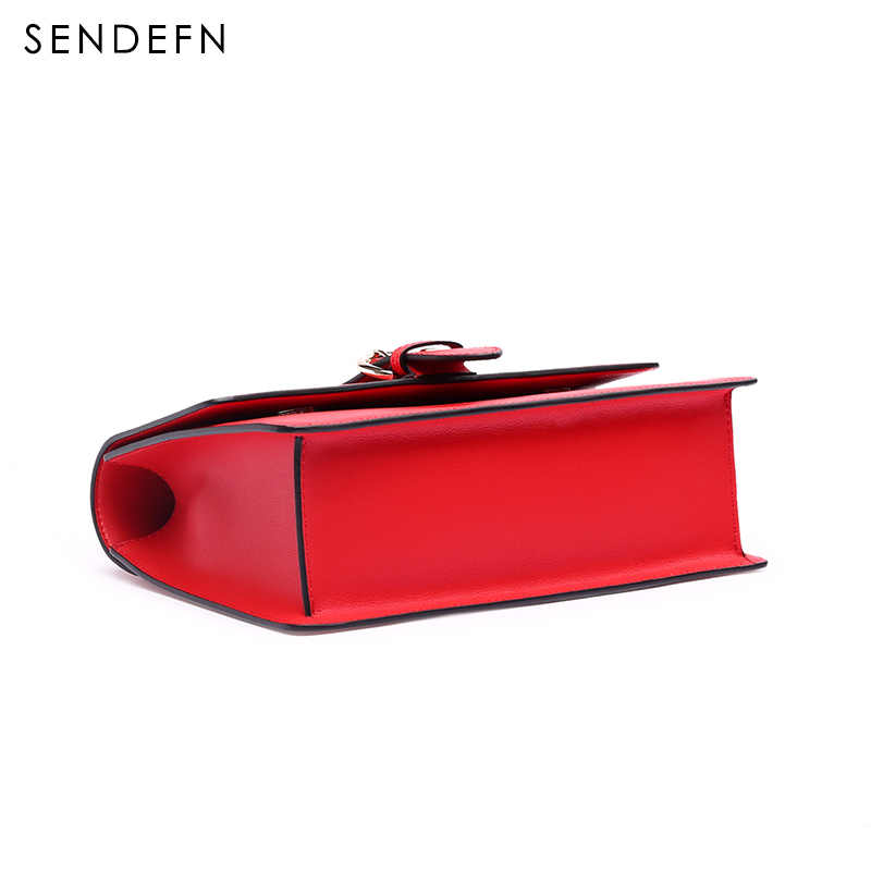 Sendefn красные женские сумки-мессенджеры модные сумки-тоут качественные кожаные сумки женские черные женские сумки с регулируемым ремешком