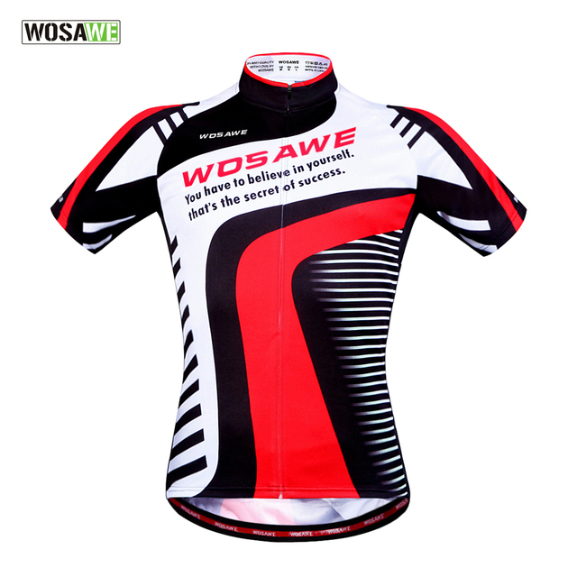 WOSAWE Men s Cycling Jersey Outdoor Sports Riding Bicycle Bike Comfortable  Short Sleeve Full Zipper Jersey Shirts Top 29ae7f1ab