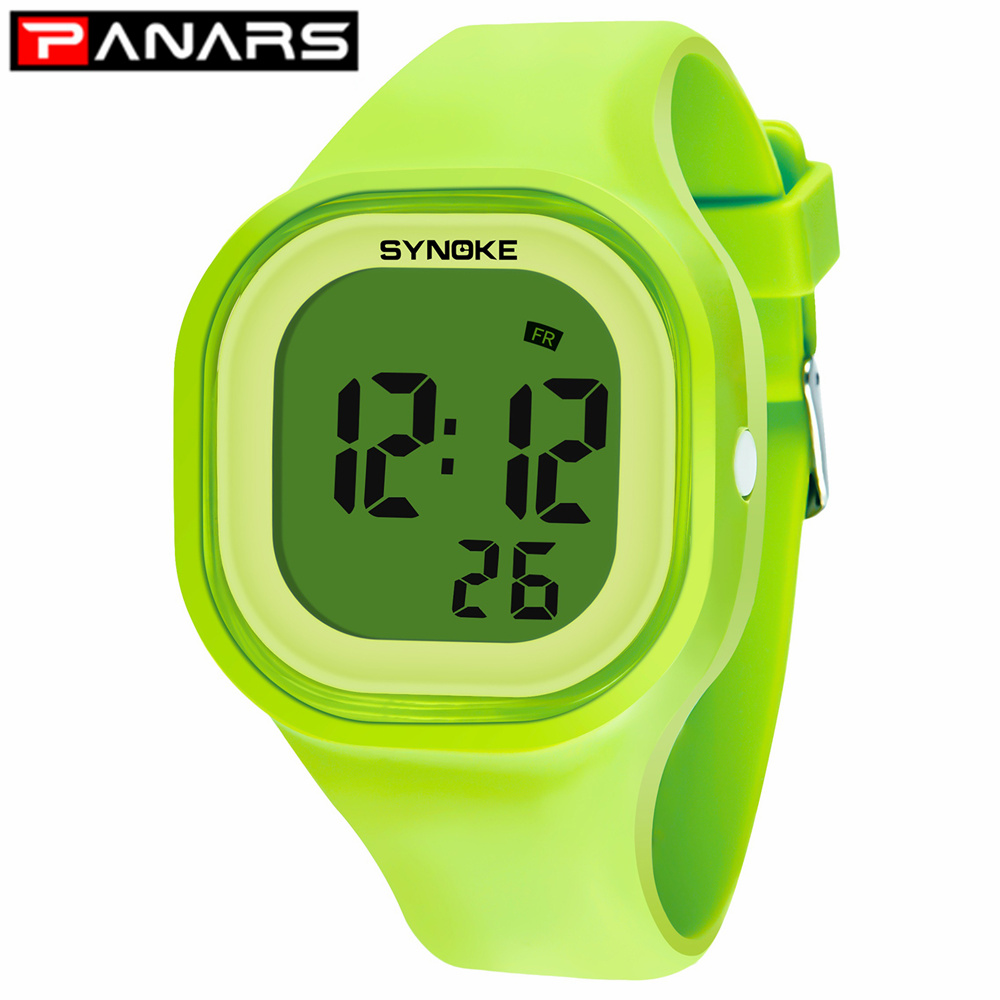 PANARS Men's Women's Kids Electronic Watches Girls Solid Clock Watches Color Wristwatches Repeater Waterproof Digital Watch