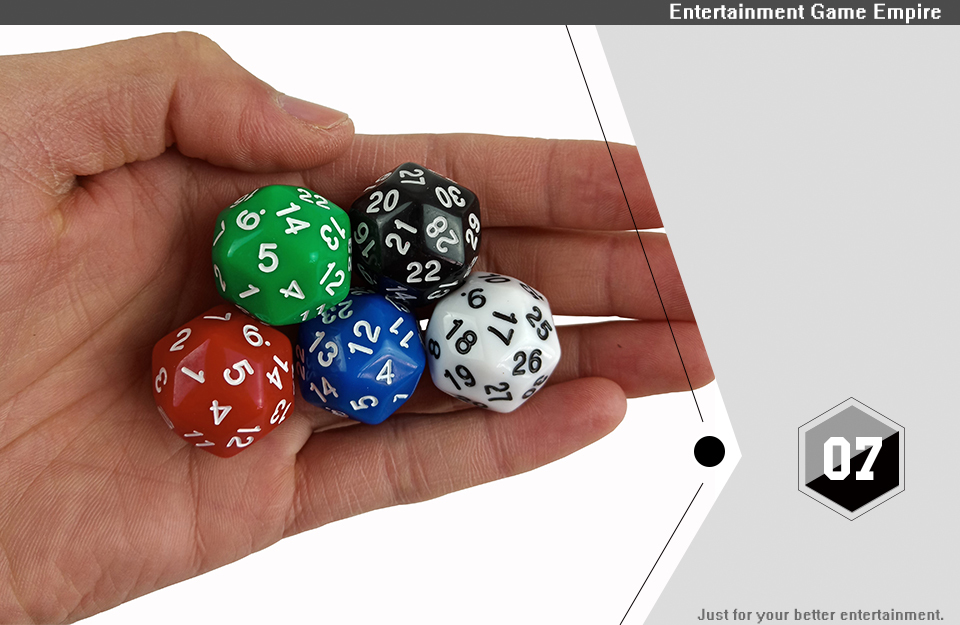 2 Yernea High-quality Multifaceted Dice Set 5Pcs D30 Polyhedron Digital Dice Dungeons and Dragons Games Dice  (7)