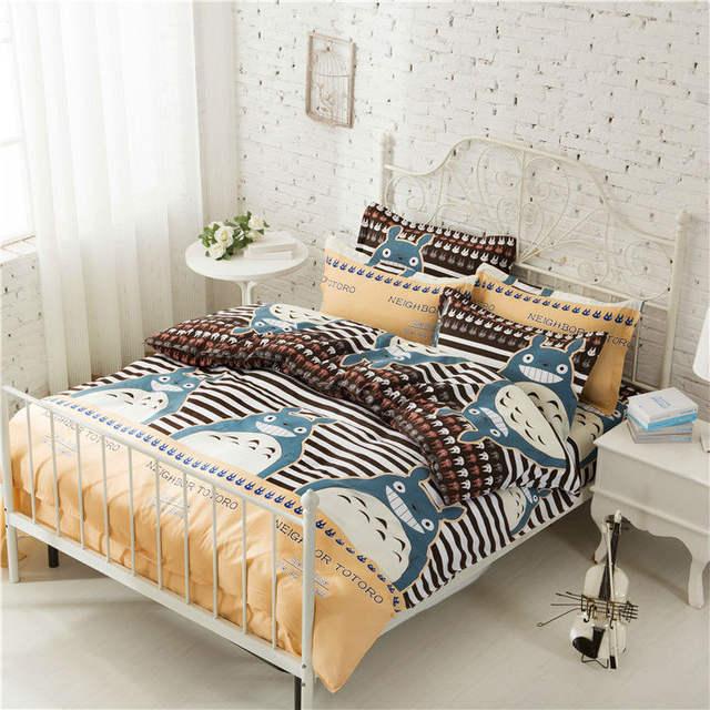 4Pcs Totoro Bedding Sets