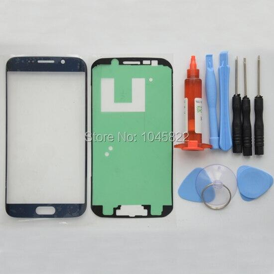 Оригинальная Передняя Стеклянная Линза Сенсорного Экрана Замена Наборы Для Samsung Galaxy S6 Edge G925 Ремонт Инструменты УФ LOCA Клей и клей