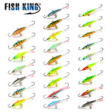 FISHKING 1PCS Winter Ice Fishing Lure 3D Eyes Colorful AD-Sharp Winter Bait Hard Lure Balancer for Fishing Bait Lead Jigging(China)