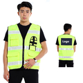 EN471 High visibility  clothing safety  hi vis vest  flourescent yellow reflective vest free shipping