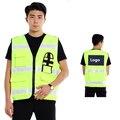 EN471 colete fluorescente de Alta visibilidade vestuário de segurança oi vis colete reflector amarelo frete grátis