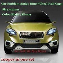 Цена 100 шт./компл. 54 мм для suzuki Swift Альто SX4 Jimnty эмблемы автомобиля колеса ступицы крышка Авто Знак диски Ступица колеса шапки