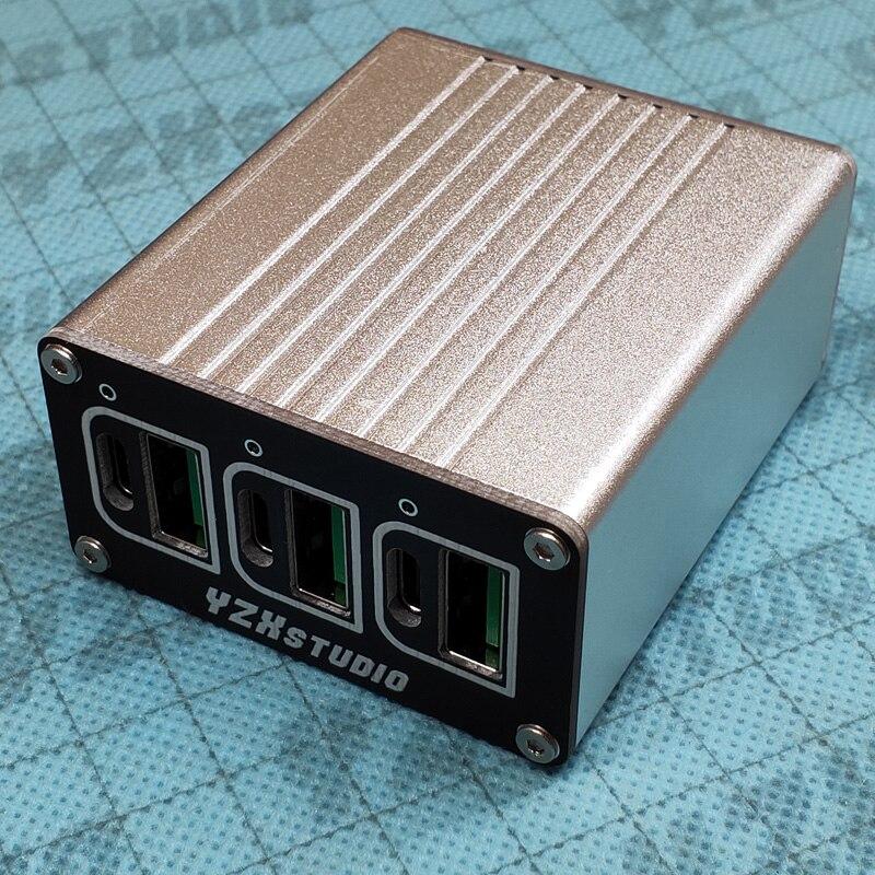 DC 12V 15V 24V TO Type C USB 6 Port Desktop fast charging QC CAR charger FULL protocol QC4+ PD3.0 PD QC 2.0 QC3.0 FCP AFC