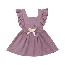 купить 2019 Baby Girl summer Dress Princess Party Wedding Tutu Line cotton soft Dresses for Kid clothes toddler Children newborn infant по цене 168.96 рублей