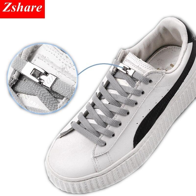 1 Tweede Quick Geen Tie Schoenveters Elastische Kruis Gesp Schoenveters Kids Adult Unisex Sneakers Schoenveter Lui Veters Strings