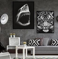 Современные животных Плакат со львом и большой Акула печати холст картины домашняя кухонная настенная книги по искусству украшения
