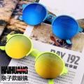 2016 New fashion Retail Parent-child round metal frame sunglasses ladies sunglasses Han edition retro glasses in kids & mum both