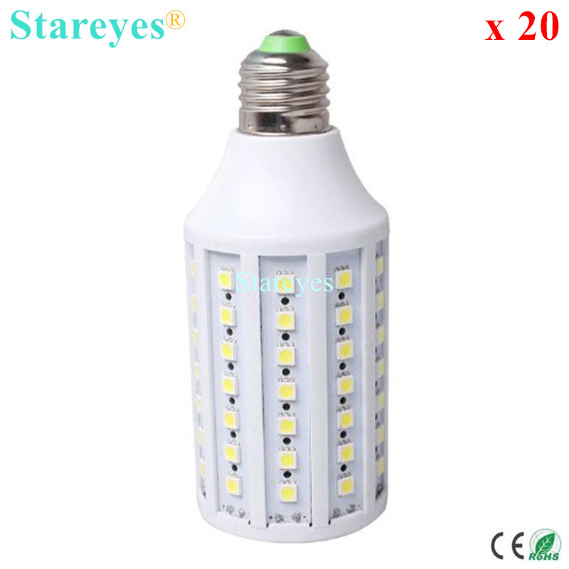 Free shipping 20 pcs SMD 5050 86 LED 15W E14 E27 B22 AC110V/220V LED Corn Bulb spotlight Lamp corn Light Warm Cold White estee lauder sensuous
