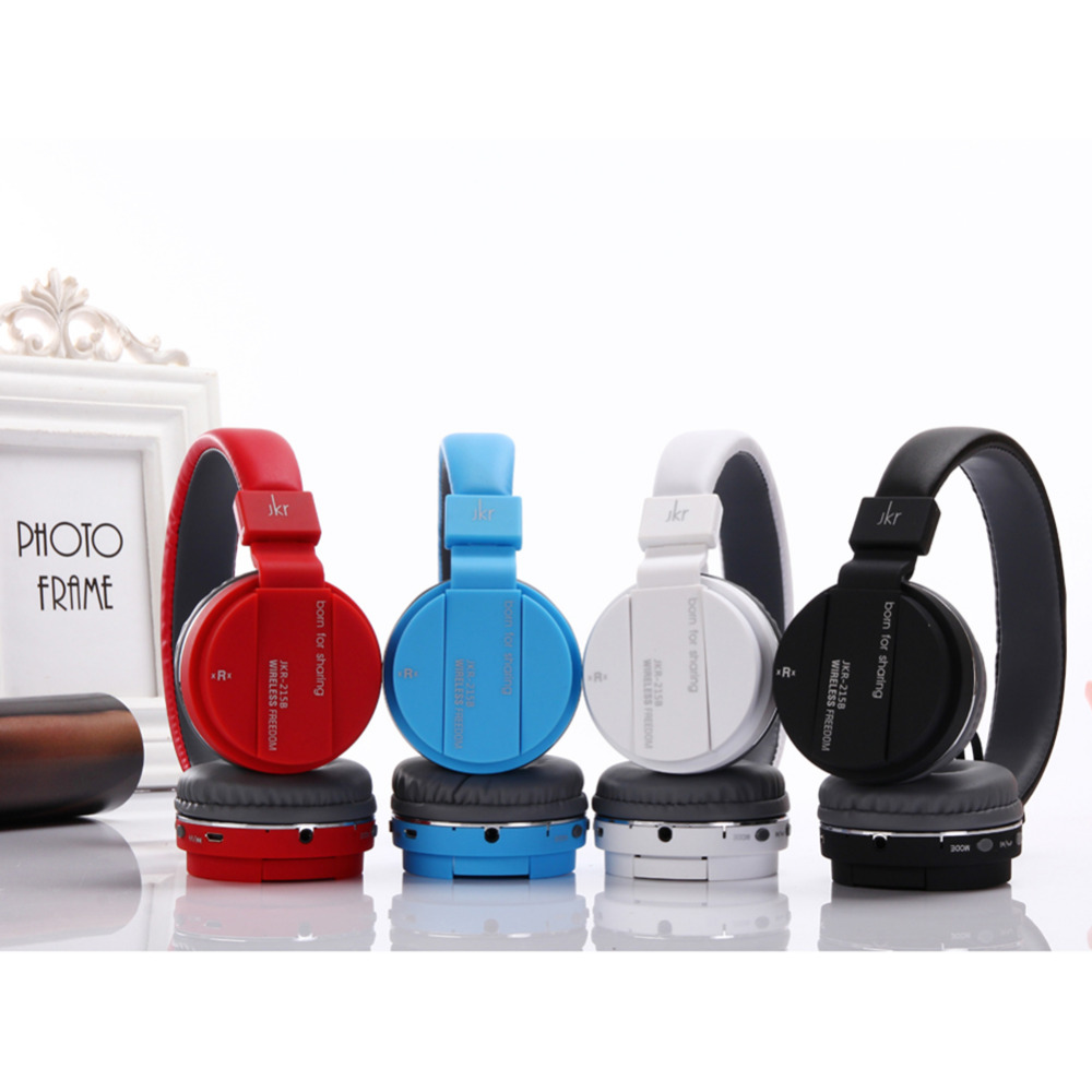 2016 Bluetooth Headphone Multifunction Wireless JKR-215B Earphone fone de ouvido Stereo Music Player Headband with Mic FM TF AUX bluetooth earphone headphone for iphone samsung xiaomi fone de ouvido qkz qg8 bluetooth headset sport wireless hifi music stereo