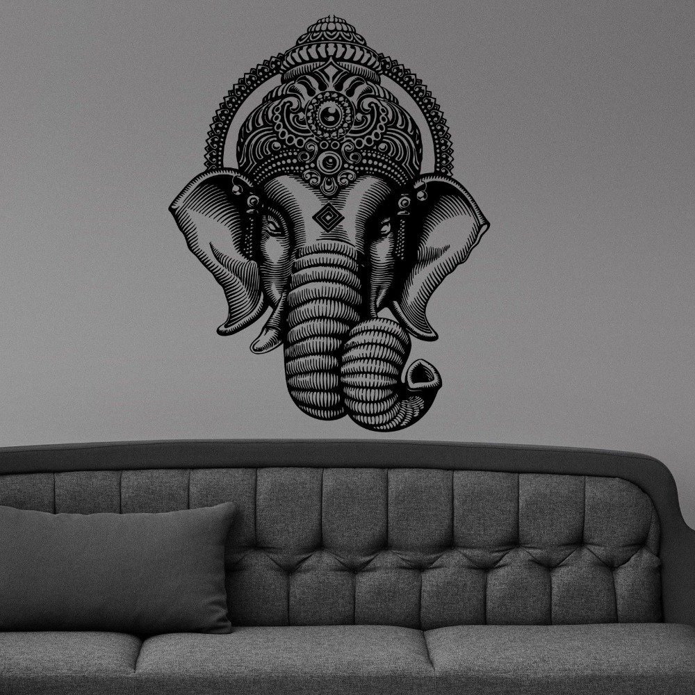 Buddha Dance Indian Hinduism Elephant Ganesh Buddhism Wall Stickers Art Vinyl Decal Sticker