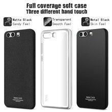 IMAK Окружен Защиты Case для huawei p10 Мягкие TPU Case Cover для huawei p10 плюс Полное Покрытие Матовая Case & screen protector