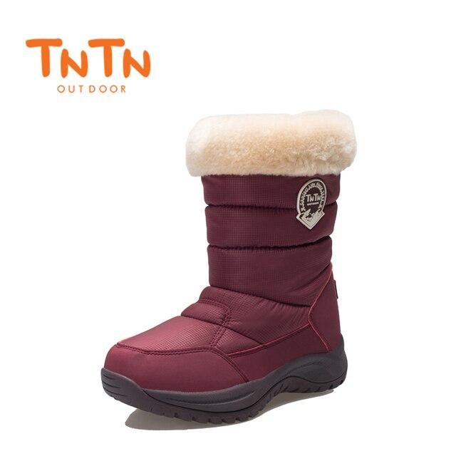 8c692697b3 Senhoras das mulheres Botas de Inverno Quente Sapatos de Neve Menina À  Prova D  Água