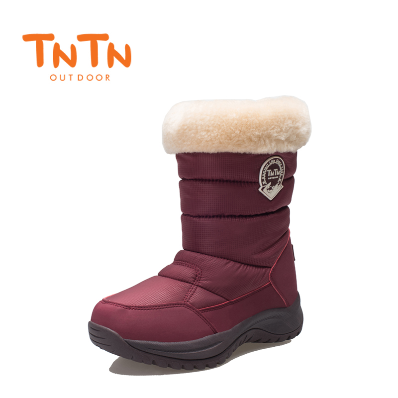 Womens Ladies Warm Winter Boots Waterproof Shoes Girl Snow Wools skiing 100% High Quality Leisure New