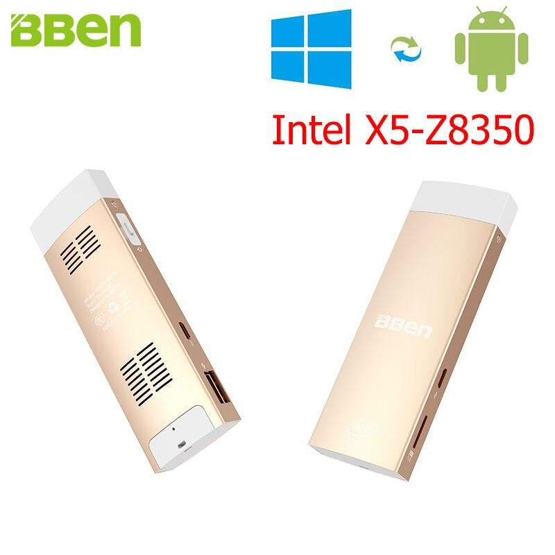 Bben mini pc de windows 10 y android 5.1 intel z8350 x5 quad core 2 gb 32 gb hd