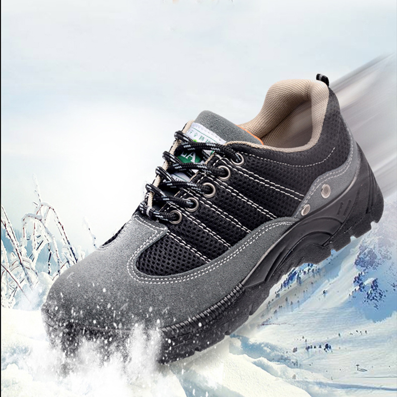 Mesh Suede Steel Toe Shoes Men Work Boots Breathable Work Safety Shoes for Man Steel Puncture Proof Construction Safety Boots in Work Safety Boots from Shoes