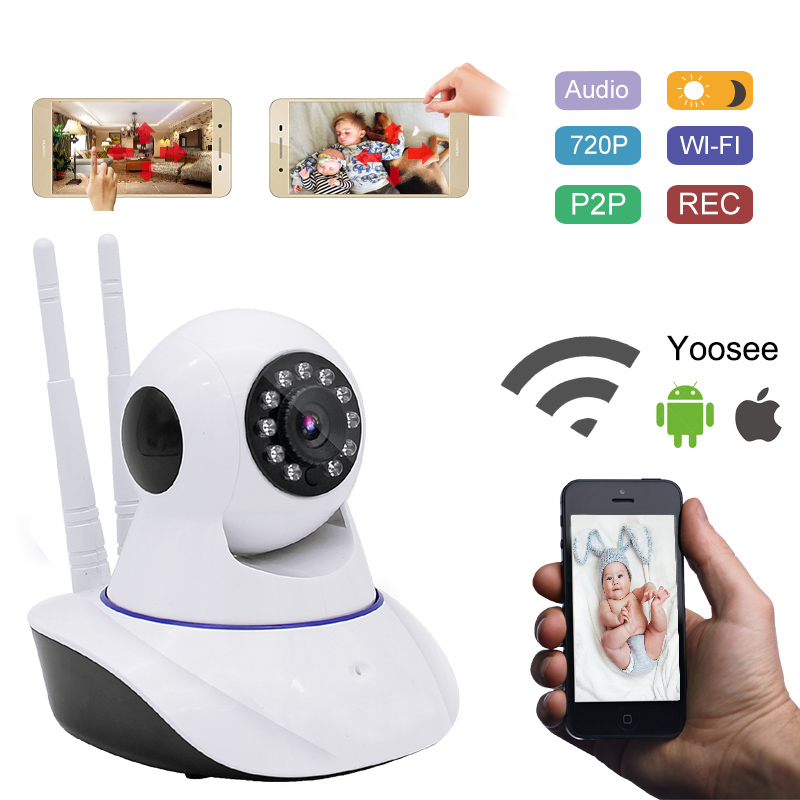 720P Security Network CCTV Wifi Home Surveillance Camera Wireless HD Security IP Camera IR Night Vision baby Monitor local alarm  new home security ip camera wireless wifi camera surveillance 720p night vision cctv baby monitor hd infrared video surveillance