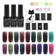 Environmental Protection Nail Polish Nail Art UV Gel Nail Polish Gradient Nail Gel for Cats Eye 6ml /1pc
