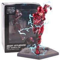 Justice League แฟลชเหล็กสตูดิโอ Art Scale 1/10 PVC Justice League การกระทำรูปของเล่นสะสม 15 ซม. ร้อนของเล่น