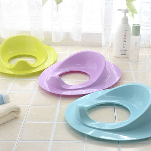 Potty Training Toilet Seat Padded Soft Ring Baby Toddler Boys Girls Pure Color Toilet Training Potties Purple Green Blue