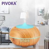 PIVOKA 400ml Air Aroma Humidifier Ultrasonic Essential Oil Diffuser LED Lights Mist Maker Luchtbevochtiger For Home