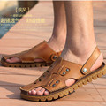 Plus Size 38-47 2017 Rome Style Men Sandals Slippers Genuine Leather Outdoor Casual Men'S Summer Shoes Gladiator Sandals For Man