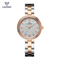 Ladies Watch CADISEN Brand New Geneva Women Quartz Clock Rhinestone Wrist Watches Dress Woman Bracelet