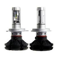 X3 100W 12,000LM/Pair H4/9003 Dual Beam Auto LED Headlight Conversion Kit 3000K 6500K 8000K PHILIPS ZES Chip LED 2018 Model