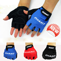 Summer ice silk elastic Bicycle half finger gloves for men and women sports and fitness short fingerless gloves