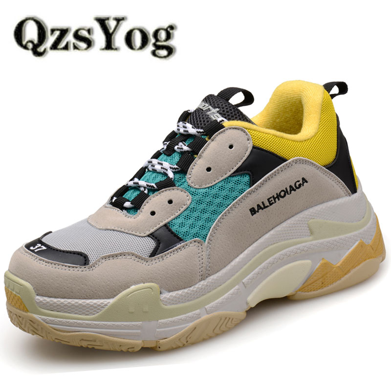 QzsYog Big Size 36-46 Couple Sport Running Shoes Air Mesh Breathable Outdoor Cushion Sneakers Athletic Men Jogging Shoes Women Комедон