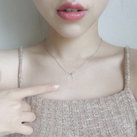 Sterling Silver Chain S925 Japan Korea female clavicular necklace jewelry accessories are simple all match students
