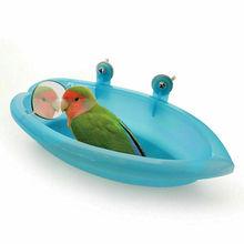 Милый игрушечный попугай ванна с зеркалом лучшее для маленькой птицы Попугай ванна+ зеркало