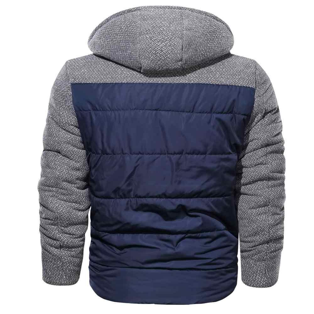 ブランドパーカー冬のジャケットの男性ヨーロッパサイズ M-3XL カジュアルスリム綿厚いメンズコートパーカーフード付き暖かい Casaco Masculino