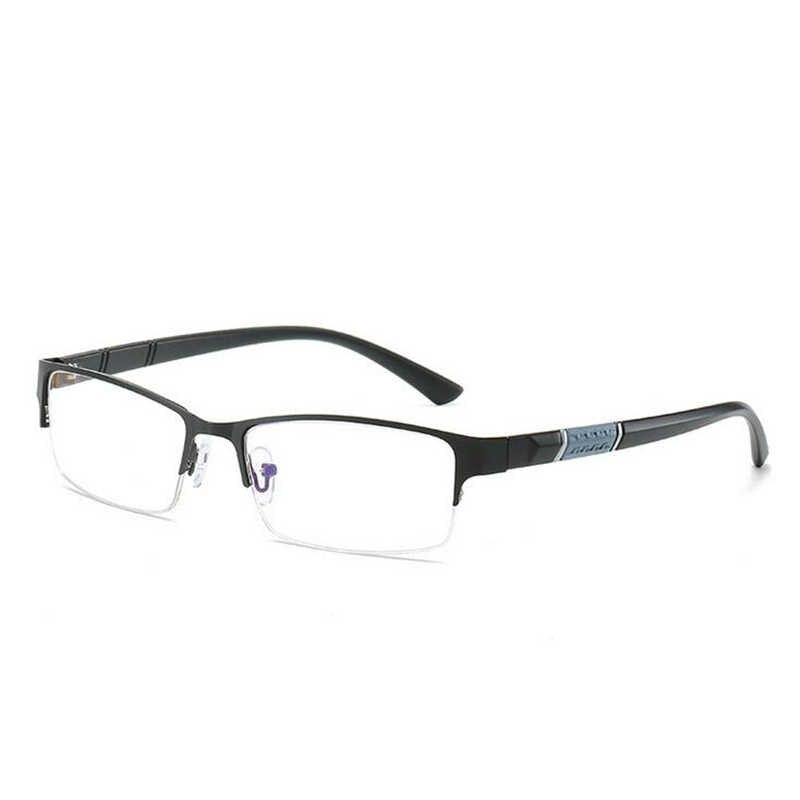 0-0,5-1-1,5-2-2,5 до-6 полуметаллическая оправа Близорукие Очки Унисекс Близорукость Смола прозрачное зеркало близорукие диоптрийные очки