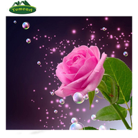 Diy Diamond Drawing 5D Square Diamond Painting Crystal Bubble Pink Rose Flower Complete Drill Painting Rhinestone