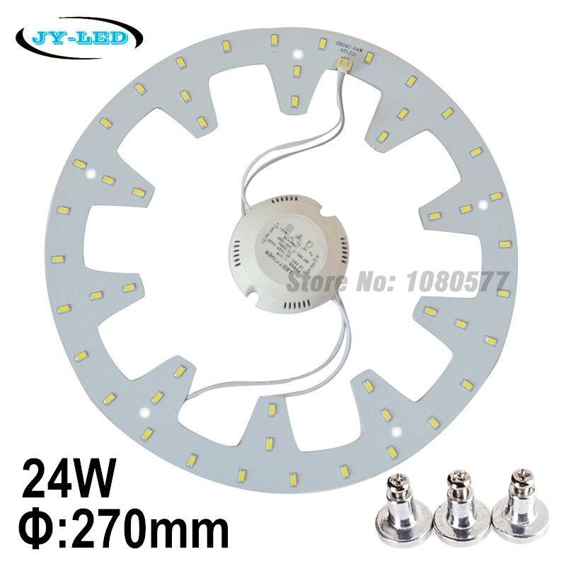 24 W LED panneau de plafond lumière panneau anneau cercle de lumière SMD 5730 LED panneau avec vis de l'aimant + pilote