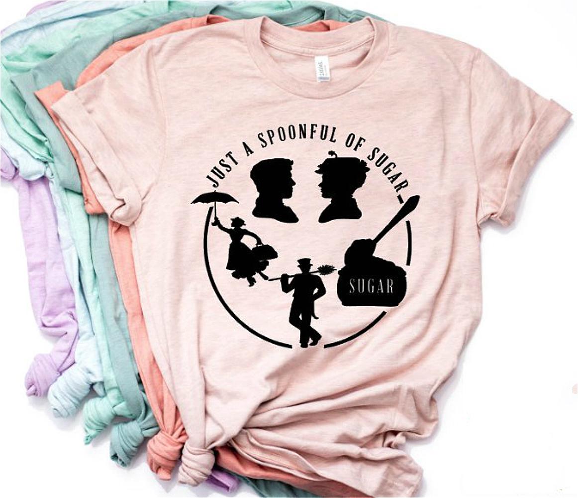 Camiseta Mary Poppins con un poco de azúcar 1