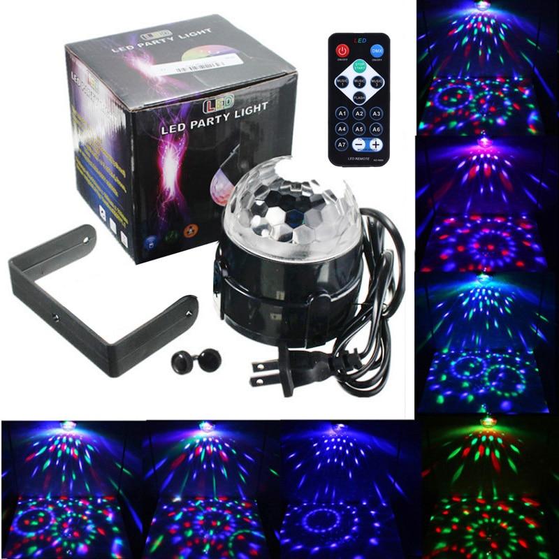Remote Control LED RGB DJ Disco Magic Ball Crystal Effect Lighting us plug