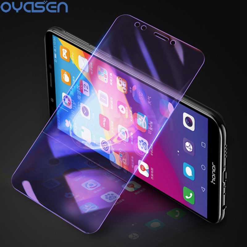9H Tempered Glass For Huawei Honor View 20 10 V10 9 P20 8 Lite 7A 7C Pro 7X 8X Explosion-proof Anti Blue Light Screen Protector