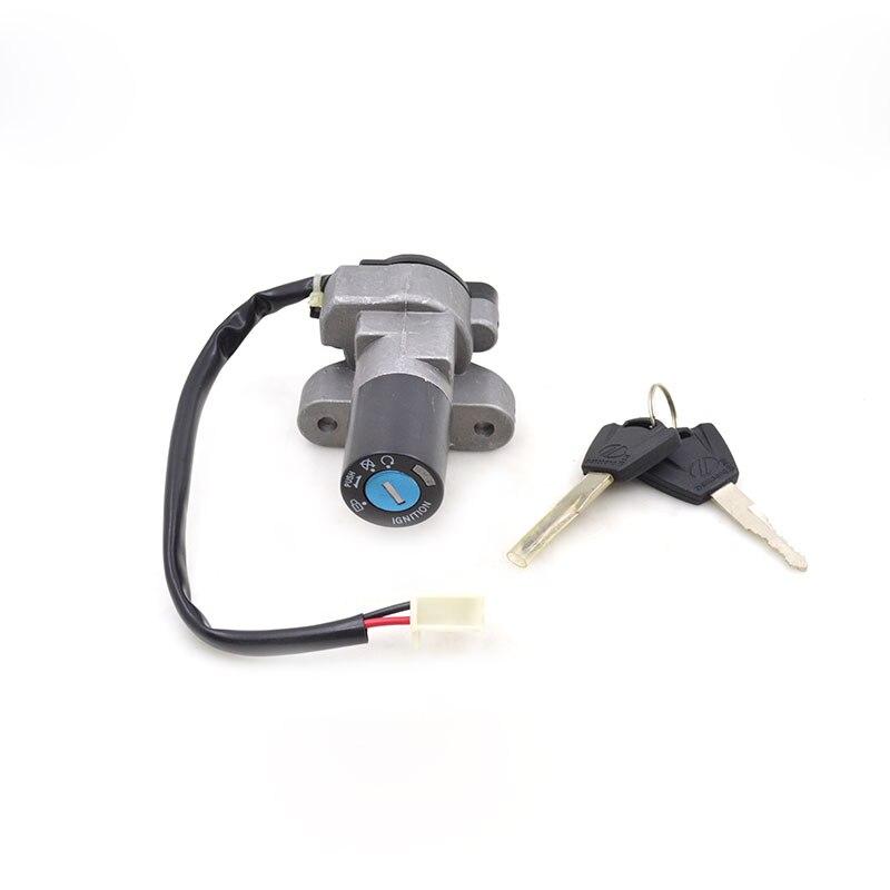 2088 Motorcycle 2 Wire Ignition Switch Lock Set For Suzuki EN125 EN ...