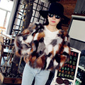 Limited edition!  Vest for Colorful mixed colors imports  A variety  colors fox fur coat raccoon fur coat
