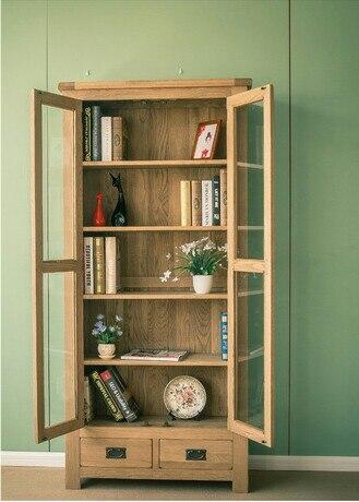 Boekenkasten Woonkamer Meubels Meubelen eiken massief houten plank ...
