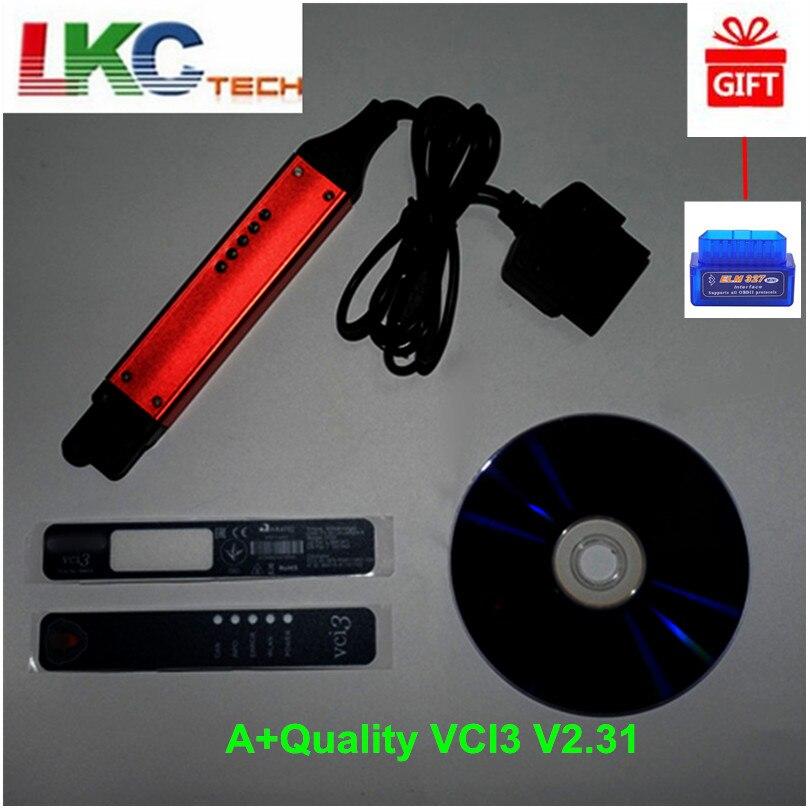 DHL бесплатная + качество V2.31 VCI3 сканер последней версии 2,32 SDP3 2,27 Wifi Беспроводной грузовик инструмент диагностики лучше, чем VCI2